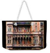 Colorful Fastasy British Building Weekender Tote Bag
