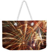 Colorful Fireworks Weekender Tote Bag
