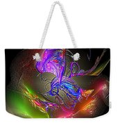 Colorful Flower Relief Weekender Tote Bag