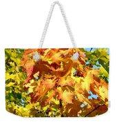 Colorful Leaf Cluster Weekender Tote Bag