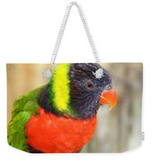 Colorful Lorikeet Parrot Weekender Tote Bag