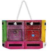 Colorful Mailboxes Weekender Tote Bag