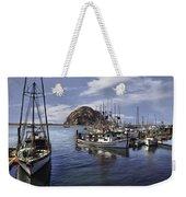 Colorful Morro Harbor Weekender Tote Bag