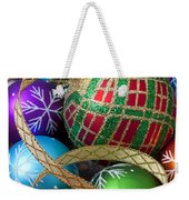 Colorful Ornaments With Ribbon Weekender Tote Bag