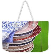 Colorful Plates Weekender Tote Bag