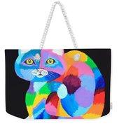 Colorful Rainbow Cat Weekender Tote Bag