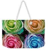 Colorful Rose Spirals Weekender Tote Bag