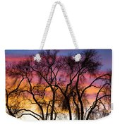 Colorful Silhouetted Trees 26 Weekender Tote Bag