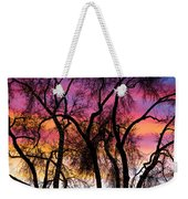 Colorful Silhouetted Trees 27 Weekender Tote Bag