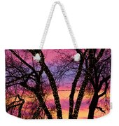 Colorful Silhouetted Trees 33 Weekender Tote Bag