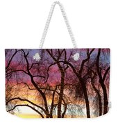 Colorful Silhouetted Trees 37 Weekender Tote Bag