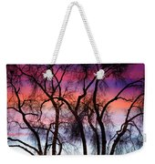 Colorful Silhouetted Trees 9 Weekender Tote Bag