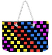 Colorful Squares Weekender Tote Bag by Louisa Knight