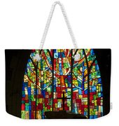 Colorful Stained Glass Chapel Window Weekender Tote Bag