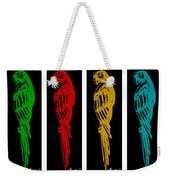 Colorful Tropical Parrot Abstract Parrot Ink Sketch Digital And Original Art By Madart Weekender Tote Bag