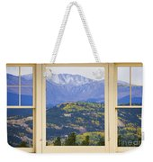 Colorful Rocky Mountain Autumn Picture Window View Weekender Tote Bag