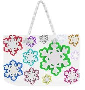 Coloured Snowflakes Isolated Weekender Tote Bag