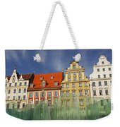 Colourful Buildings And Fountain Weekender Tote Bag