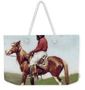Comanche Brave Weekender Tote Bag by Frederic Remington