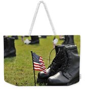 Combat Boots Are Placed In Formation Weekender Tote Bag