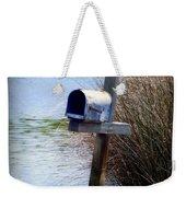 Come Rain Or Shine Or Boat Weekender Tote Bag by Karen Wiles