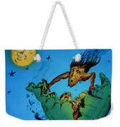 Comet Colliding With Earth Weekender Tote Bag