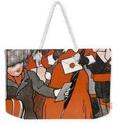Coming Out Of The Post Office Weekender Tote Bag