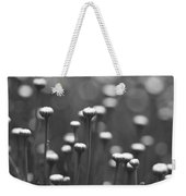 Coming Up Daisies Abstract In Black And White Weekender Tote Bag