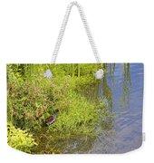 Common Moorhen At The Waters Edge Weekender Tote Bag