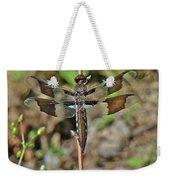 Common Whitetail Dragonfly - Plathemis Lydia - Female Weekender Tote Bag