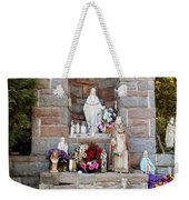 Comparison Mother Mary Shrine Weekender Tote Bag