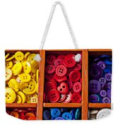 Compartments Full Of Buttons Weekender Tote Bag by Garry Gay