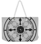 Compass In Black And White Weekender Tote Bag