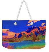 Complementary Mountains Weekender Tote Bag