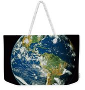 Composite Image Of Whole Earth Blue Weekender Tote Bag