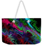 Computer Generated Blue Green Abstract Wave Fractal Flame Modern Art Weekender Tote Bag