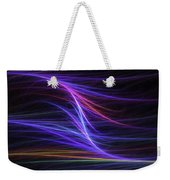 Computer Generated Blue Magenta Abstract Fractal Flame Modern Art Weekender Tote Bag