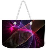 Computer Generated Blue Pink Abstract Fractal Flame Modern Art Weekender Tote Bag