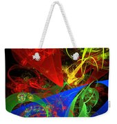 Computer Generated Blue Red Green Abstract Fractal Flame Modern Art Weekender Tote Bag