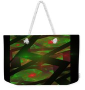 Computer Generated Green Triangles Abstract Fractal Flame Abstract Art Weekender Tote Bag