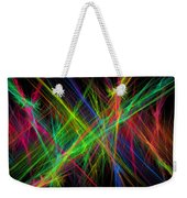 Computer Generated Lines Abstract Fractal Flame Black Background Weekender Tote Bag