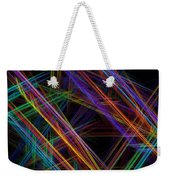 Computer Generated Lines Abstract Fractal Flame Modern Art Weekender Tote Bag