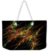 Computer Generated Red Green Abstract Fractal Flame Black Background Weekender Tote Bag