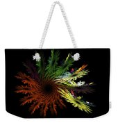 Computer Generated Red Yellow Green Abstract Fractal Flame Black Weekender Tote Bag