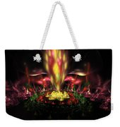 Computer Generated Red Yellow Green Abstract Fractal Flame Weekender Tote Bag
