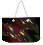 Computer Generated Triangles Abstract Fractal Flame Abstract Art Weekender Tote Bag