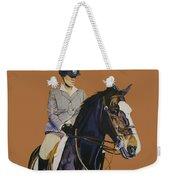 Concentration - Hunter Jumper Horse And Rider Weekender Tote Bag