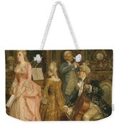 Concert At The Time Of Mozart Weekender Tote Bag by Ettore Simonetti