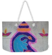 Conch Design Rangoli Weekender Tote Bag