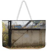 Concrete And Rusty Fence Weekender Tote Bag